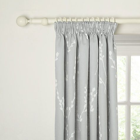 Buy John Lewis Croft Collection Catkin Lined Pencil Pleat Curtains, Grey Online at johnlewis.com