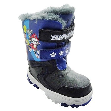 Toddler Boys' Paw Patrol Double Velcro Strap Winter Boots - Black : Target