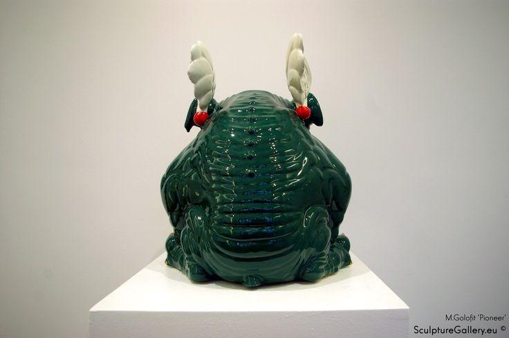 """Pionier"" Rzeźba Ceramiczna M.Gołofit | Sculpture Gallery"