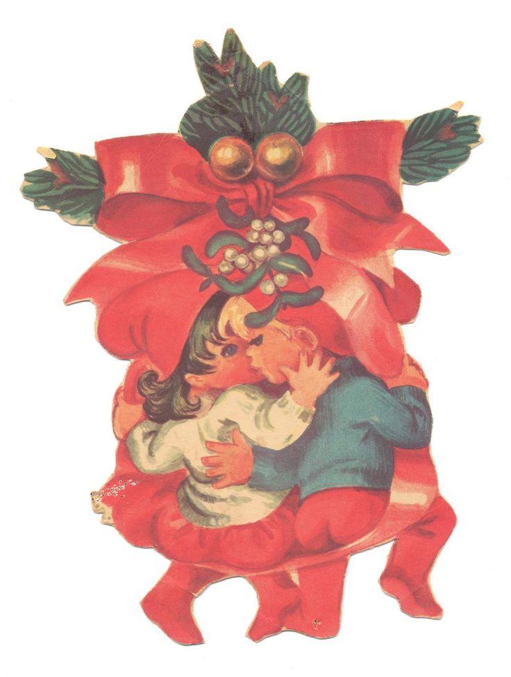 To nisser fra samme ark, hvor alle figurerne er omgivet af, svingende fra eller viklet ind i gavebånd og lignende. Two gnomes from the same sheet of paper, where all the characters are surrounded by, fluctuating from or entangled in the Ribbon and the like.