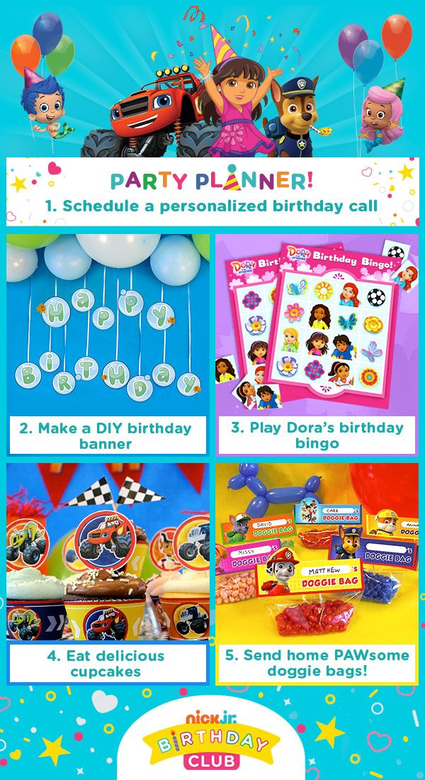 106 best nick jr parties images on pinterest nick jr birthday start your nick jr birthday party off with a personalized birthday phone call filmwisefo Images