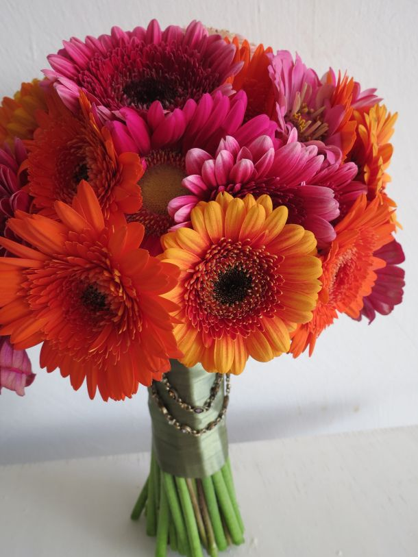 Can be in any color! gerbera daisies bouquet