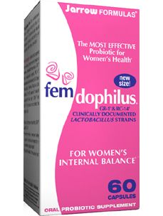 FEMDOPHILUS 60 CAPS (J30300) Probiotic Supplement -for Women's Internal Balance fem-dophilus® contains two patented and clinically documented probiotic strains, Lactobacillus rhamnosus, GR-1® and Lactobacillus reuteri, RC-14®, discovered and developed by Dr. Gregor Reidand Dr. Andrew…