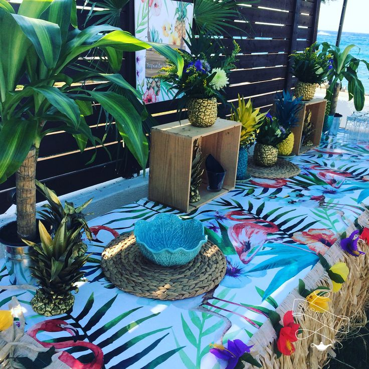 Tropical buffet for a bachelorette in Rhodes island!