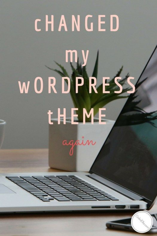 Changed my WordPress theme again