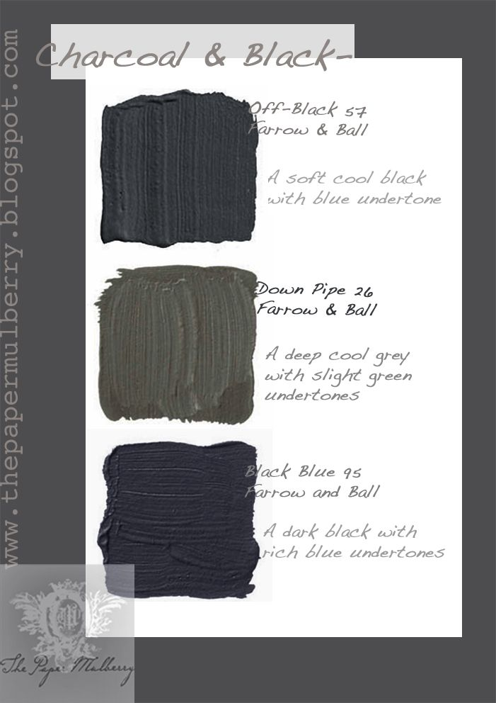 The Paper Mulberry: Exterior Paint Shades - Charcoal & Black