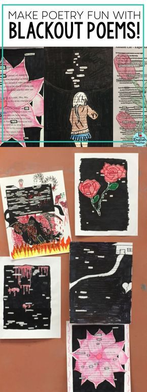 Have fun with your poetry unit by incorporating blackout poetry! Your middle school and high school English language arts students will love creating these poems.