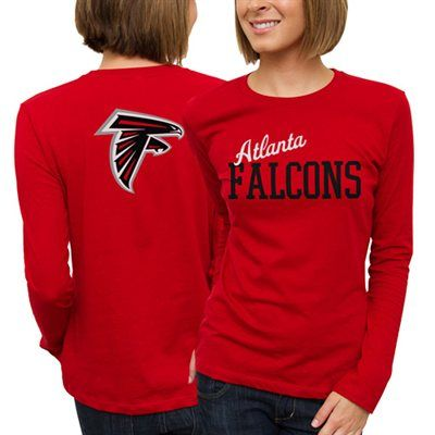 Atlanta Falcons Ladies Game Day Long Sleeve T-Shirt - Red  #fanatics