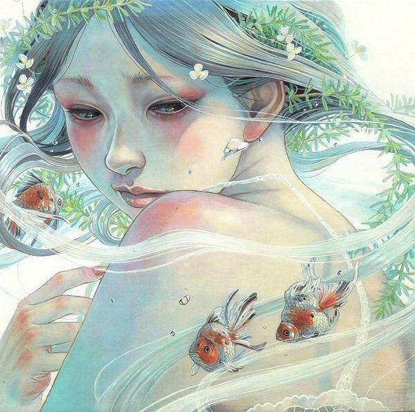 PEONY • Art by Japanese artist Miho Hirano
