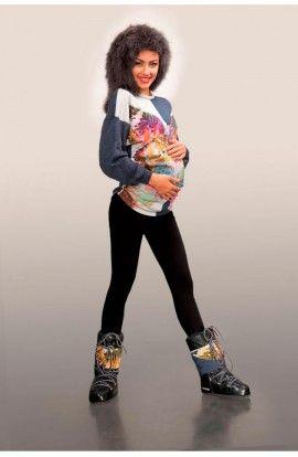 Colanți negri pentru gravide