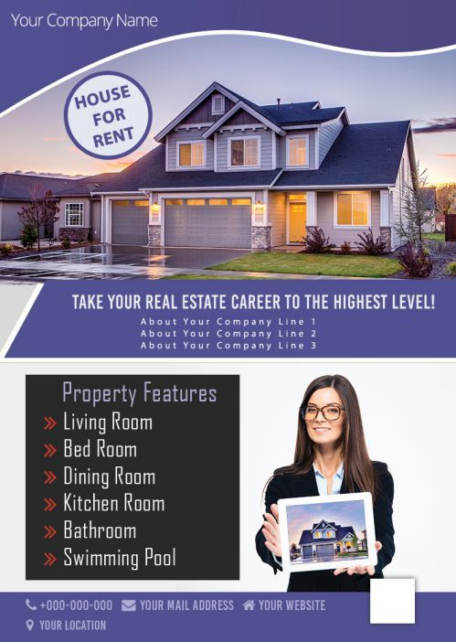 House For Rent Property Features House Rent Flyers Renting a