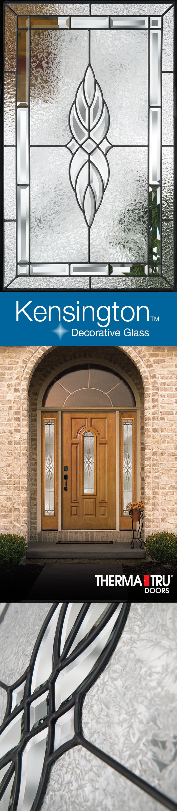 Kensington decorative glass brings European elegance to the entry door. | Glass Design | Pinterest | Decorative glass Doors and Glass & Kensington decorative glass brings European elegance to the entry ...