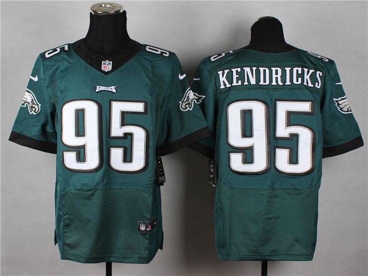 Men's NFL Philadelphia Eagles #95 Kendricks Green Elite Jersey
