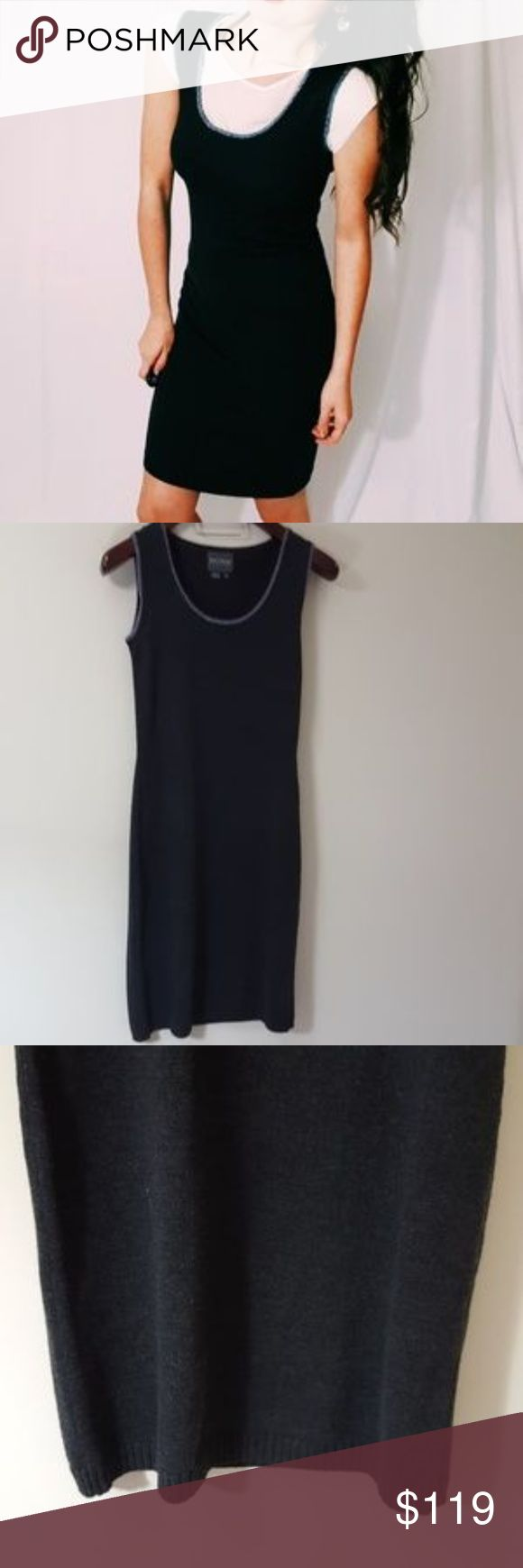 Kay Unger gray wool dress small -C4 In good condition! Kay Unger gray wool dress, size small. Beautiful woth a cardigan or worn with a shirt underneath! Used item : pictures show any signs of wear. Inspected for quality and wear. Bundle up! Offers always welcome!:) Kay Unger Dresses