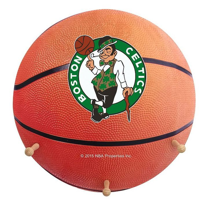 Boston Celtics Basketball Coat Hanger, Multicolor