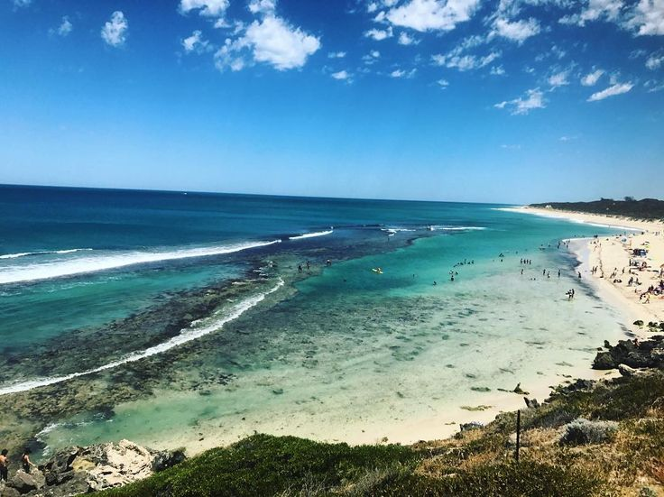 Perth's Top Unique Swimming Spots: Beaches, Swimming Holes, Lakes and Rivers    With a protective reef situated just off the coast resulting in often calm waters makes Yanchep Lagoon one of Perth most unique and perfect swimming location. The beach is ideal for little ocean explorers or a great chance to grab your snorkel gear or SUP.
