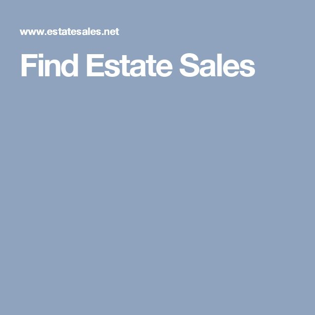 Find Estate Sales