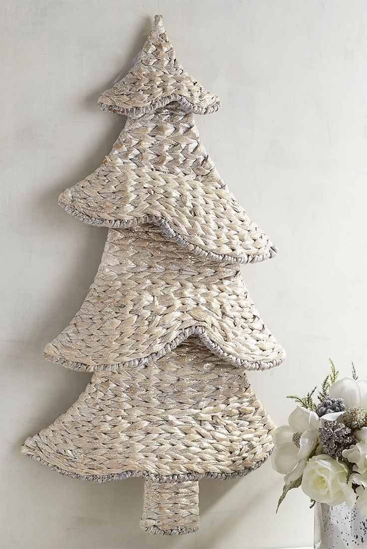 Coastal christmas decor - Pier Woven Christmas Tree Wall Decor Fits Right In With This Season S Laid Back Coastal Trend