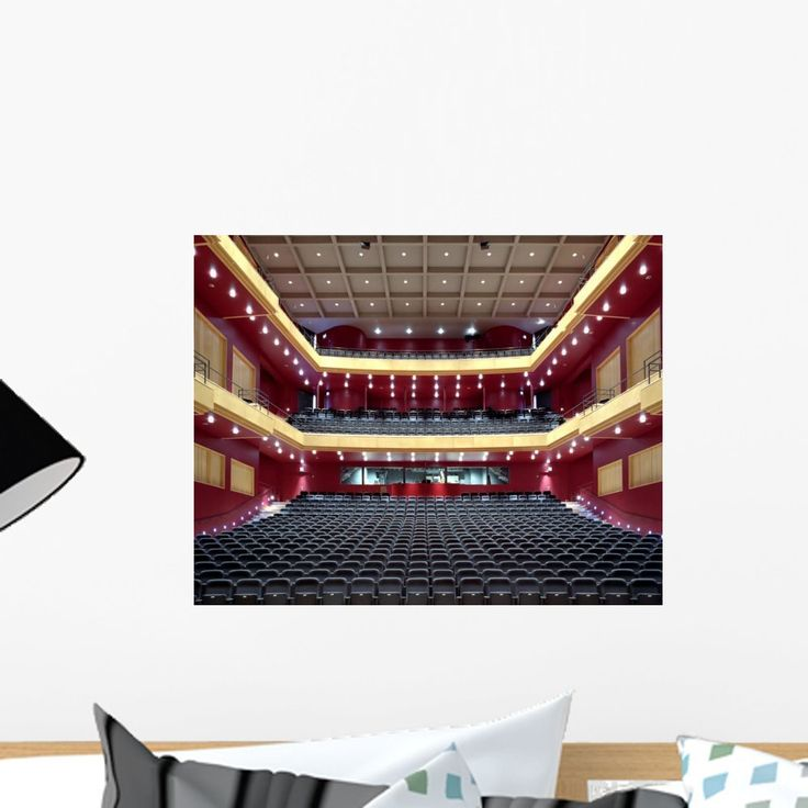 Wallmonkeys Empty Red Theater Seating Peel and Stick Wall Decals WM57014 (18 in W x 14 in H): Amazon.ca: Home & Kitchen