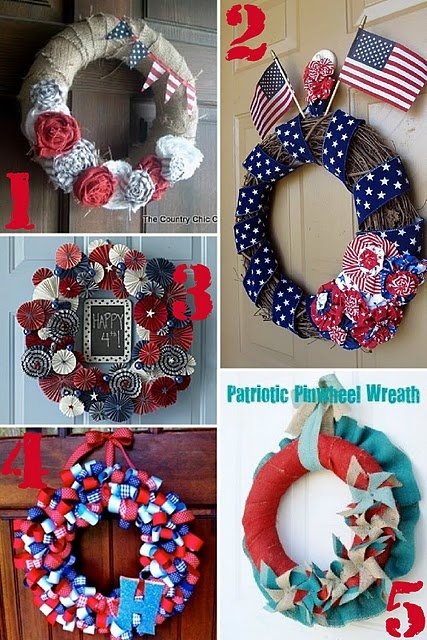 wreathsJuly Wreaths, Fourth Of July, July Roundup, 27 Patriots, Patriots Wreaths, 4Th Of July, July 4Th, Scrap Shoppe, Patriots Projects