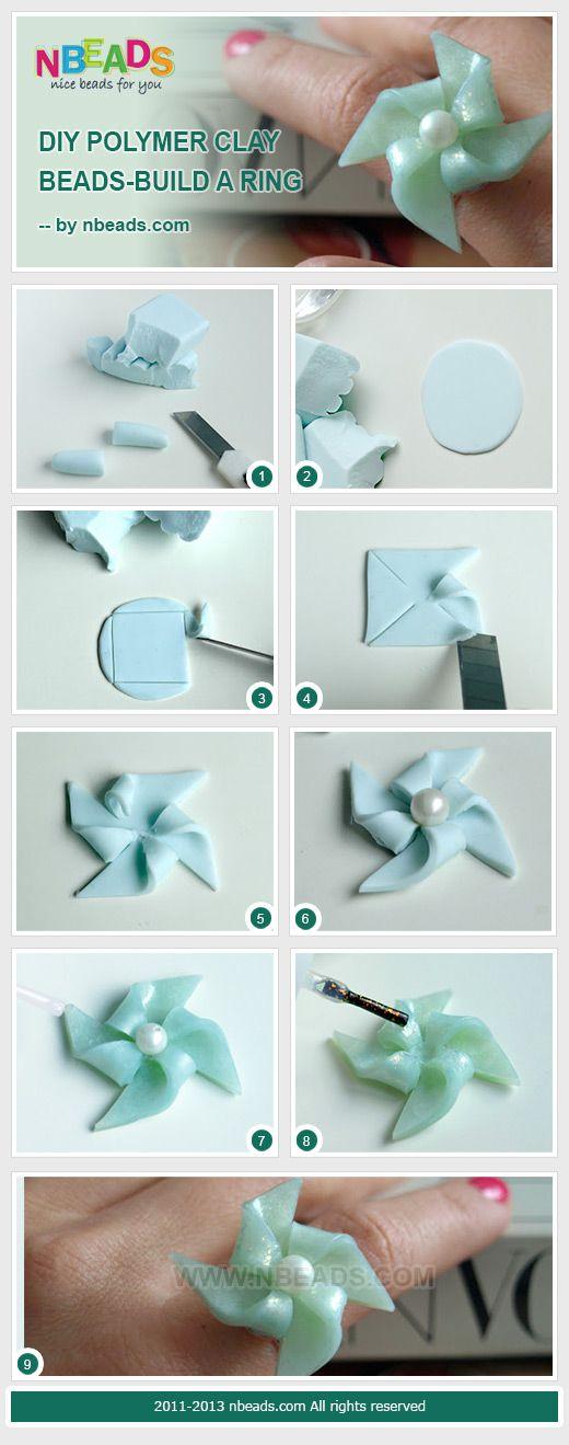 bricolage argile polymère perles-construire un anneau