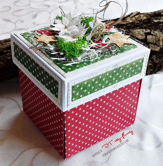 EPOKA  PAPIEROWA: Świąteczny exploding box z niespodzianką