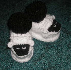 Knitting Galore: Cute Sheep Baby Booties