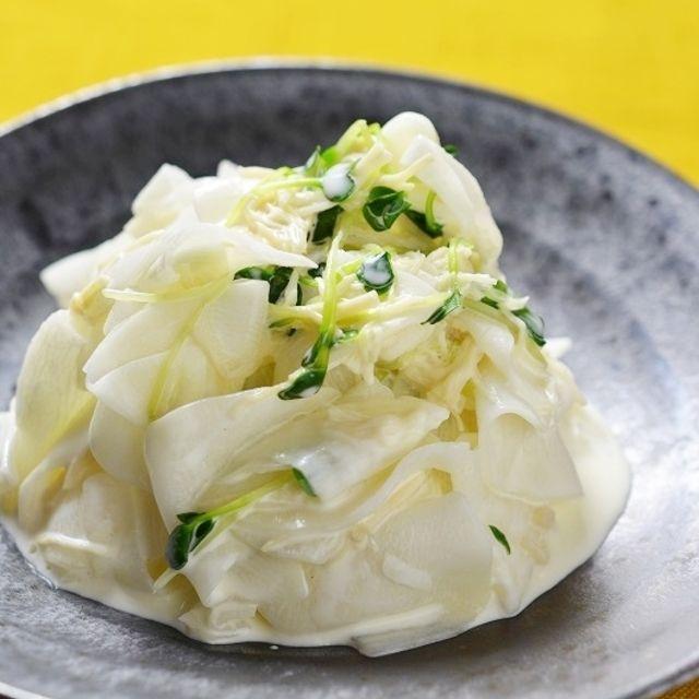 <ホタテ缶詰で作る、おしゃれ大根サラダ>