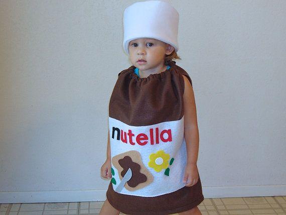 Kinder Kostüm Nutella Halloween Kostüm Haselnuss von TheCostumeCafe