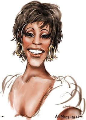 Whitney Houston #Caricature #FunnyFaces