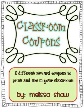 Fifth Grade Classroom Themes | 5th Grade Ideas / Classroom Coupons Freebie!