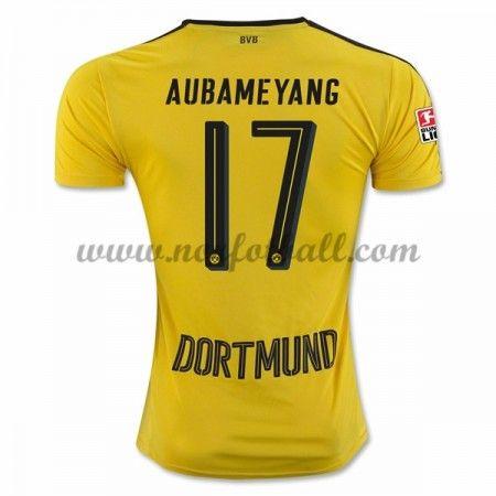 Billige Fotballdrakter BVB Borussia Dortmund 2016-17 Aubameyang 17 Hjemme Draktsett Kortermet