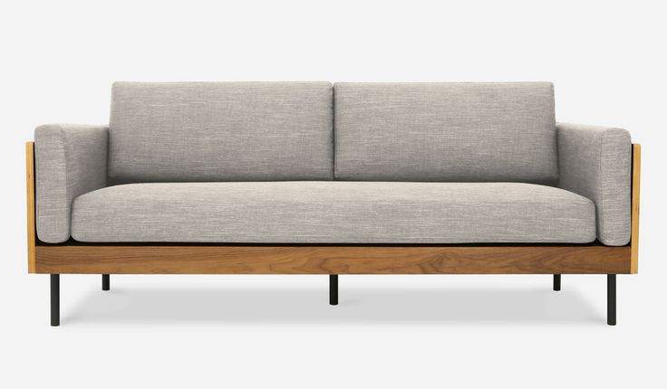 I saw this and fell in love. William Sofa, Silver Gray by Castlery.