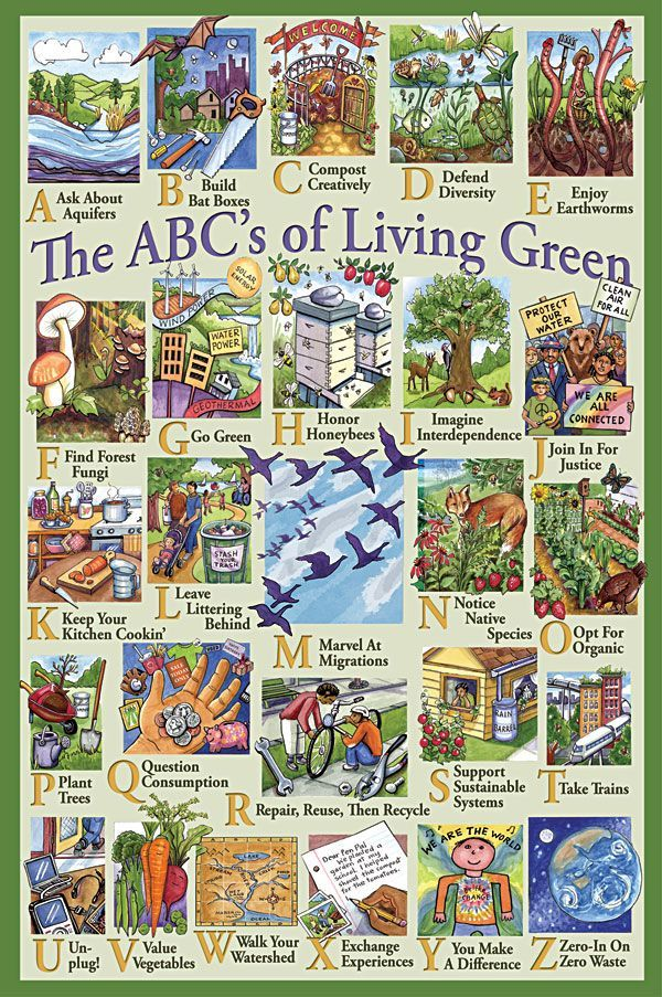 """I liked this poster because it includes things like """"Join in for Justice"""" as part of """"Green Living"""". Social movements and change are extremely important to a sustainable world because there is inequality and exploitation among us everywhere we look; people, resources, or land, it makes no difference. Justice and education, which is what this poster advocates, are our tools for a better world."""