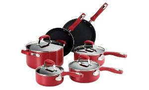 Groupon - Guy Fieri 10-Piece Nonstick Cookware Set in [missing {{location}} value]. Groupon deal price: $69.99