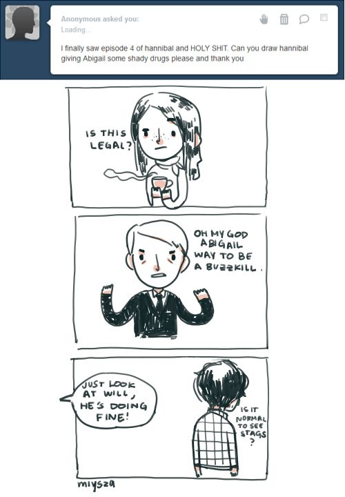 Hannibal giving abigail some shady drugs hannibal - Hannibal lecter zitate ...