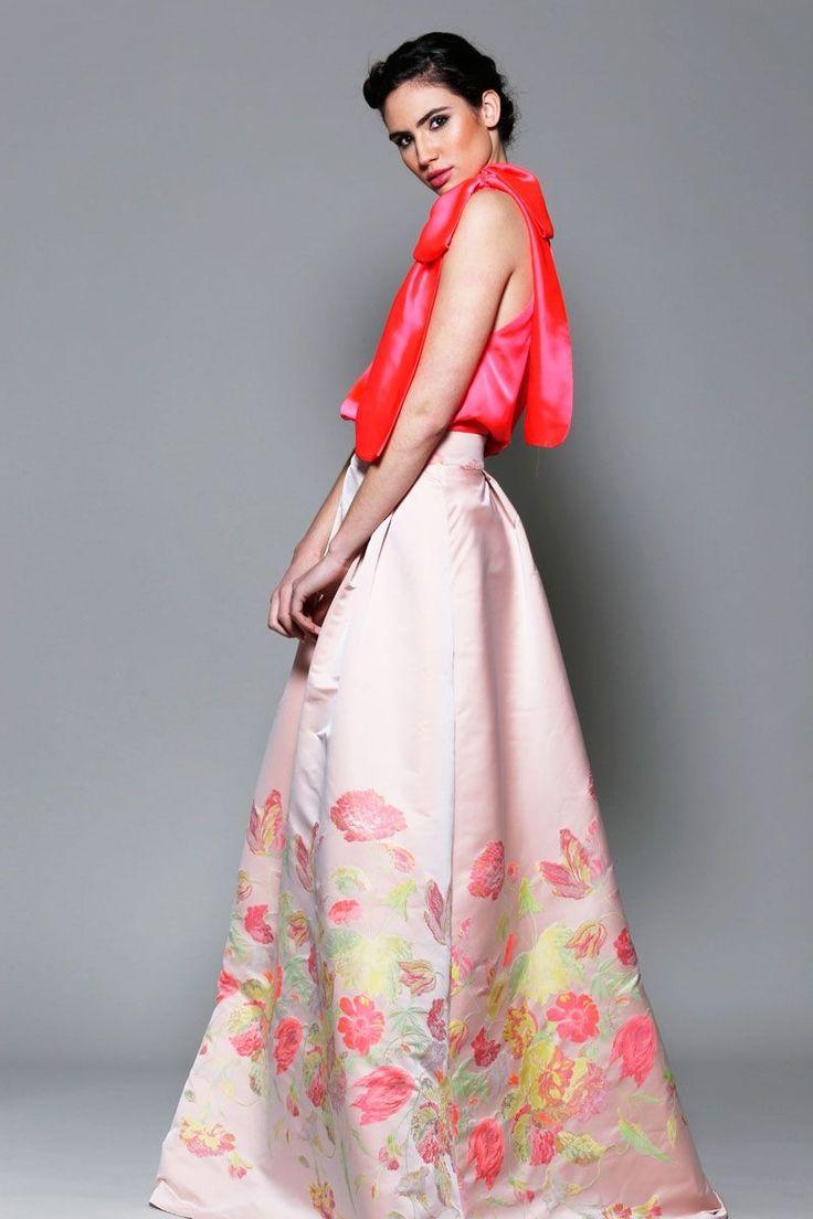 Falda larga estampada de flores #invitadasboda #faldas www.apparentia.com