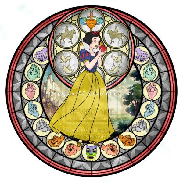 Princess Snow White - Kingdom Hearts Stain Glass by reginaac57.deviantart.com on @deviantART