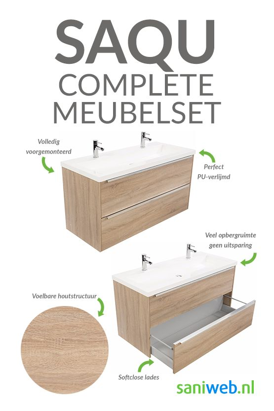 61 beste afbeeldingen van badkamermeubels saniweb for Complete meubelset