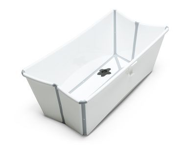 This is great so you don't have to fill the whole tub with water, and comes with an infant insert. It also folds right up so it doesn't take up ANY space. LOVE LOVE this tub. | Stokke white bath