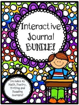 My entire Interactive Journal Bundle! Includes 300+ pages of foldables, activities, and printable for student journals! Topics are:WritingMathReadingLiterature CirclesSocial StudiesPoetryYou are sure to love these journals!! They will set you up for the entire year, all you have to do is buy and print!