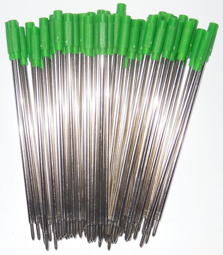 10 - Ballpoint Pen Refills for Cross Pens - GREEN INK #BallpointRefill