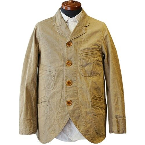 Sack Coat: a loose-fitting coat hanging down from the shoulders work by men during the 19th and 20th century.