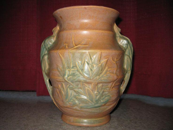 Vintage Rare Nelson McCoy Lizard Handle Vase | Stuff to ...