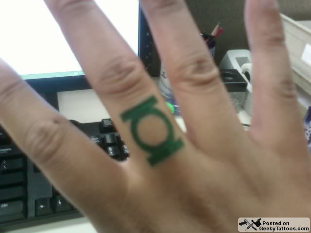 Green Lantern ring tattoo