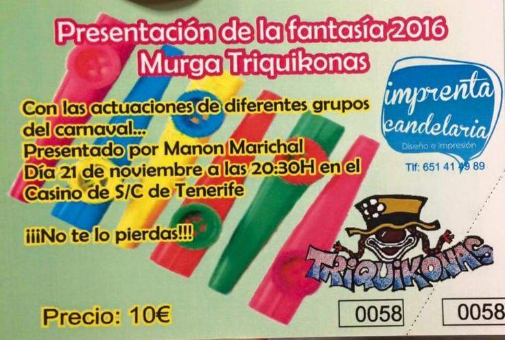 Grupo Mascarada Carnaval: Triquikonas, ya tiene fecha para su presentación