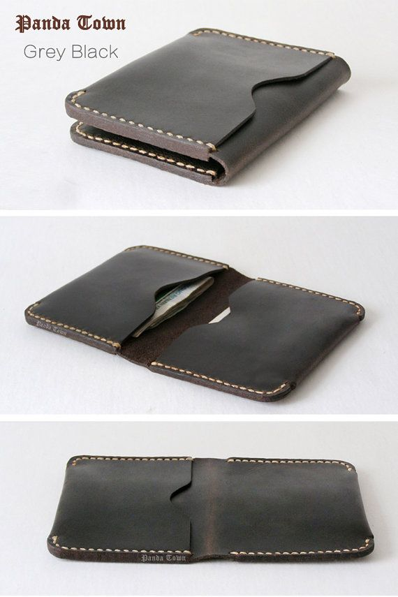 Free carving , Slim Leather Wallet,Thin Leather Wallet, Mens Leather Wallet, Minimal Wallet, Handmade wallet , 19