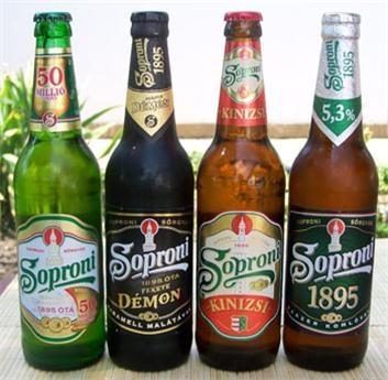 Heerlijk Hongaars bier Soproni.