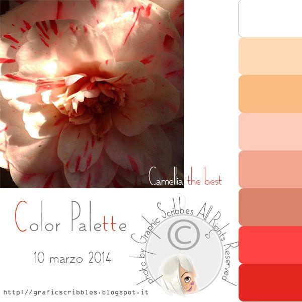 Color palette of 4 marzo 2014 - Camellia the best http://graficscribbles.blogspot.it/2014/03/palette-colori-color-palette-camelia.html