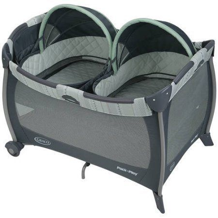 Pack N Play Twins Baby Bed Bassinet Travel Portable Playpen Playard Napper     eBay